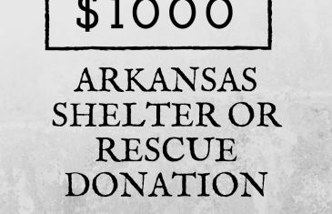 $1000 Arkansas Shelter or Rescue Donation Contest Rules